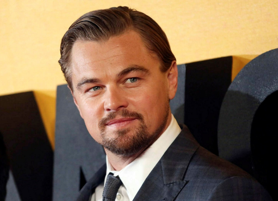 Leonardo dicaprio with new hair cut