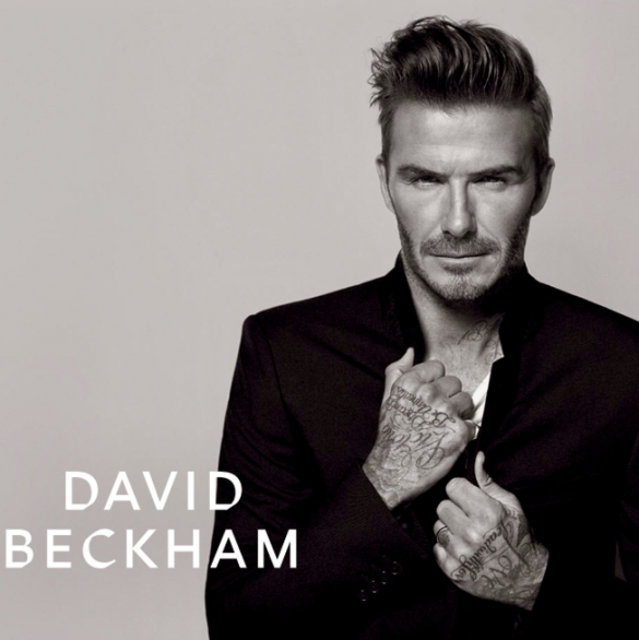 david beckham with new hair